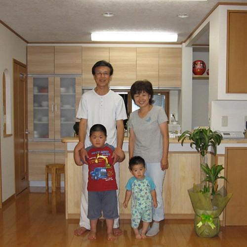 伊那市リフォームI-2邸 家族写真