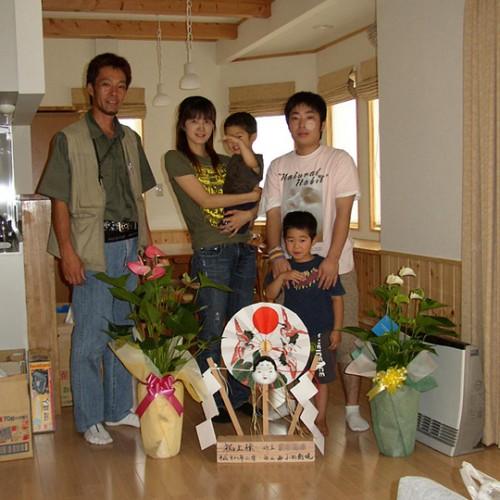 宮田村新築T邸 家族写真