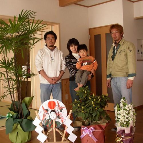 伊那市新築N-2邸 家族写真