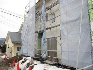 有賀邸 外壁施工㈰