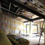 古民家改修工事−大工造作㈮中2階部屋