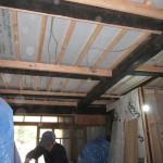 古民家改修工事−大工造作㈬床断熱工事