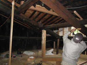 古民家改修工事−大工造作㈫