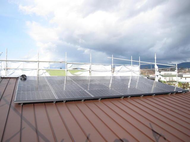 太陽光発電システム自社設置2 伊那市境mk様邸
