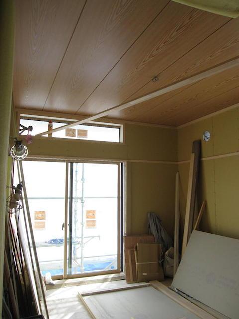 大工工事 和室天井貼り-伊那市境a様邸