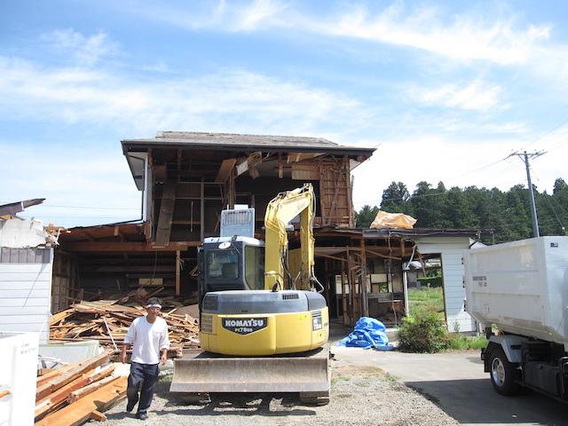 解体家屋から地盤調査2-伊那市富県H様邸