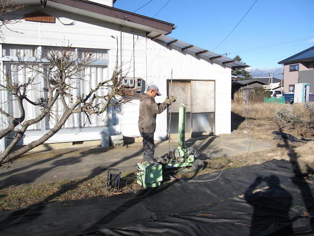 解体家屋から地盤調査3-伊那市富県H様邸