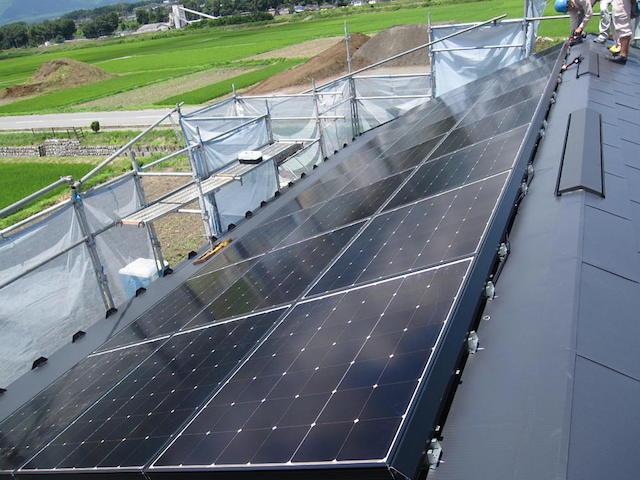 太陽光システム設置2-伊那市上牧Ka様邸