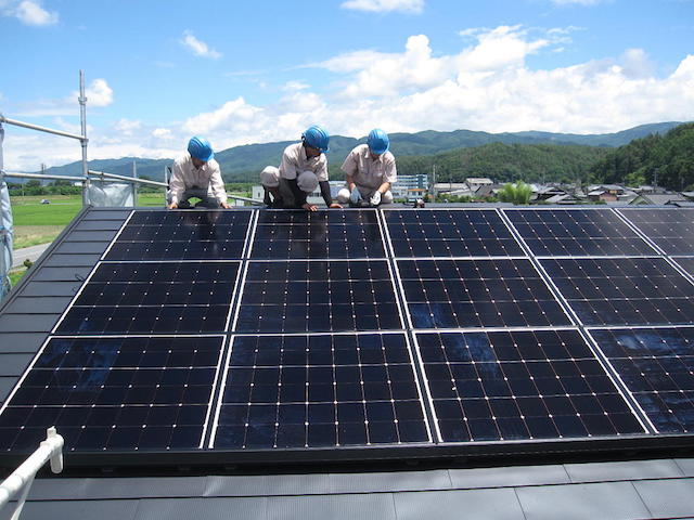 太陽光システム設置1-伊那市上牧Ka様邸