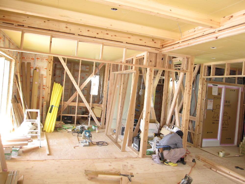 天井下貼り施工(1階)-伊那市富県H様邸