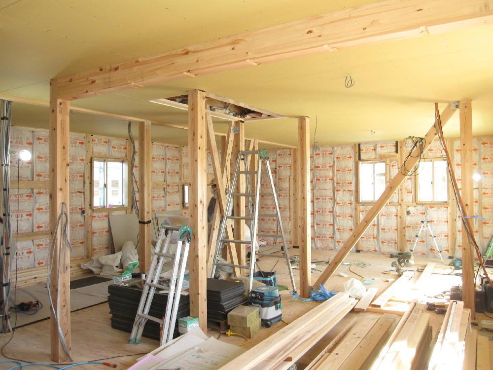 天井下貼り施工(2階)-伊那市富県H様邸