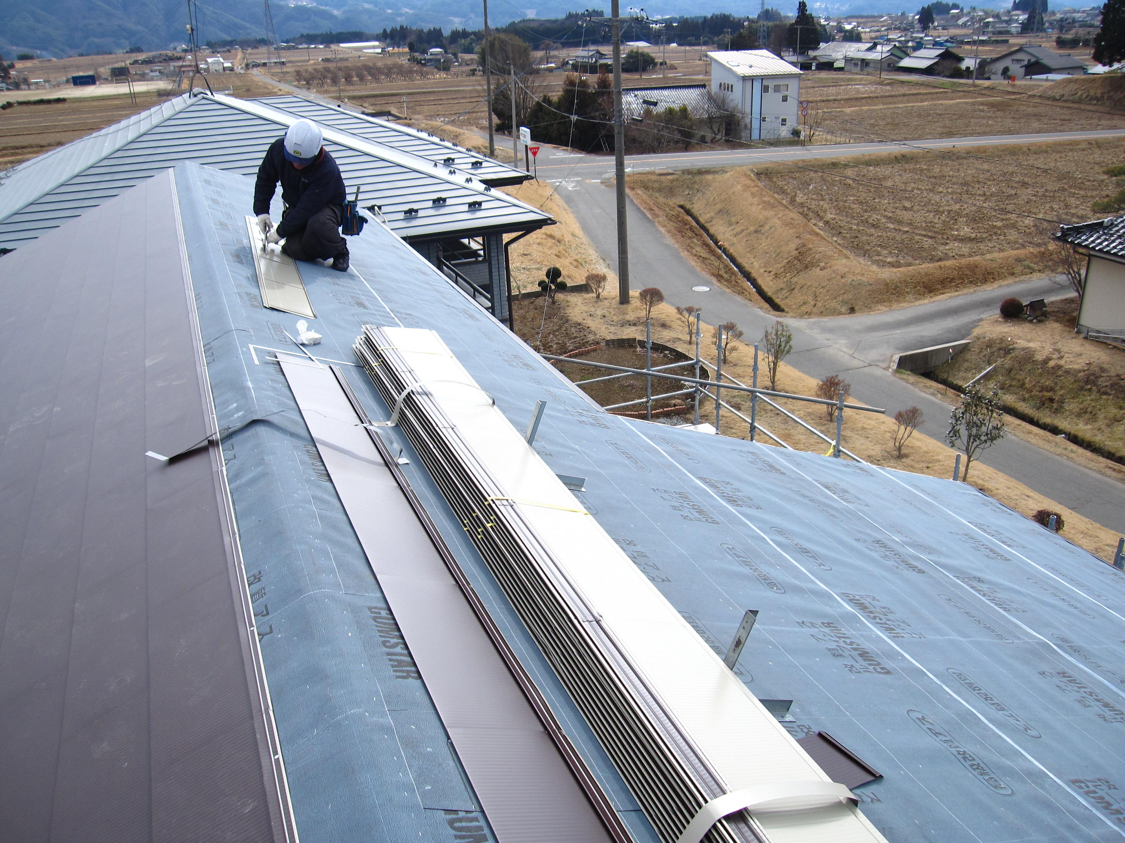 Tk様邸夢のマイホームの屋根工事-飯島町七久保