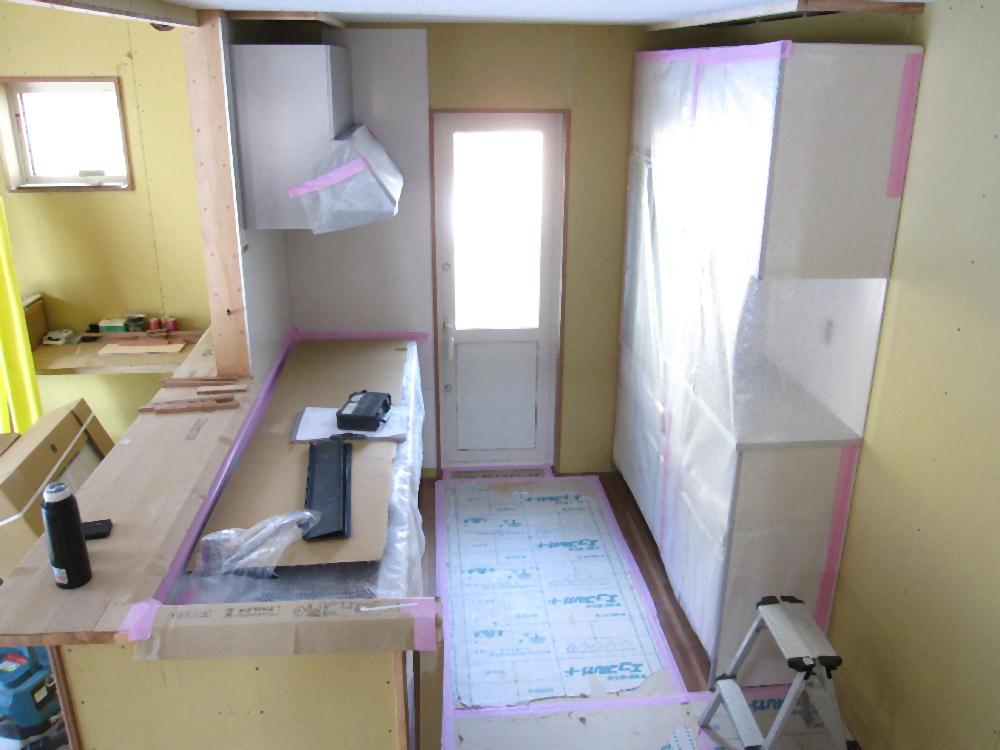 キッチン組立完了