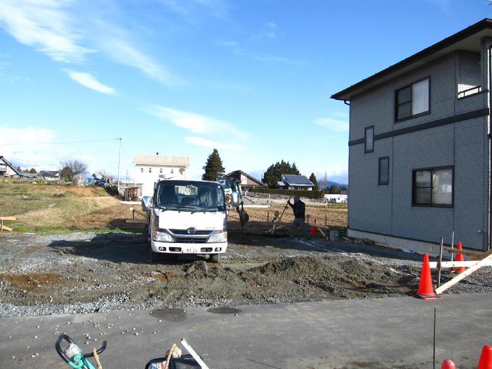Tk様邸の基礎工事開始1