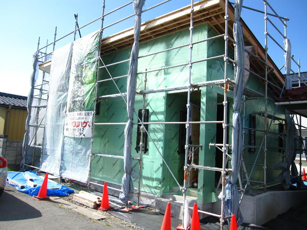 大工工事-遮熱透湿シート貼り