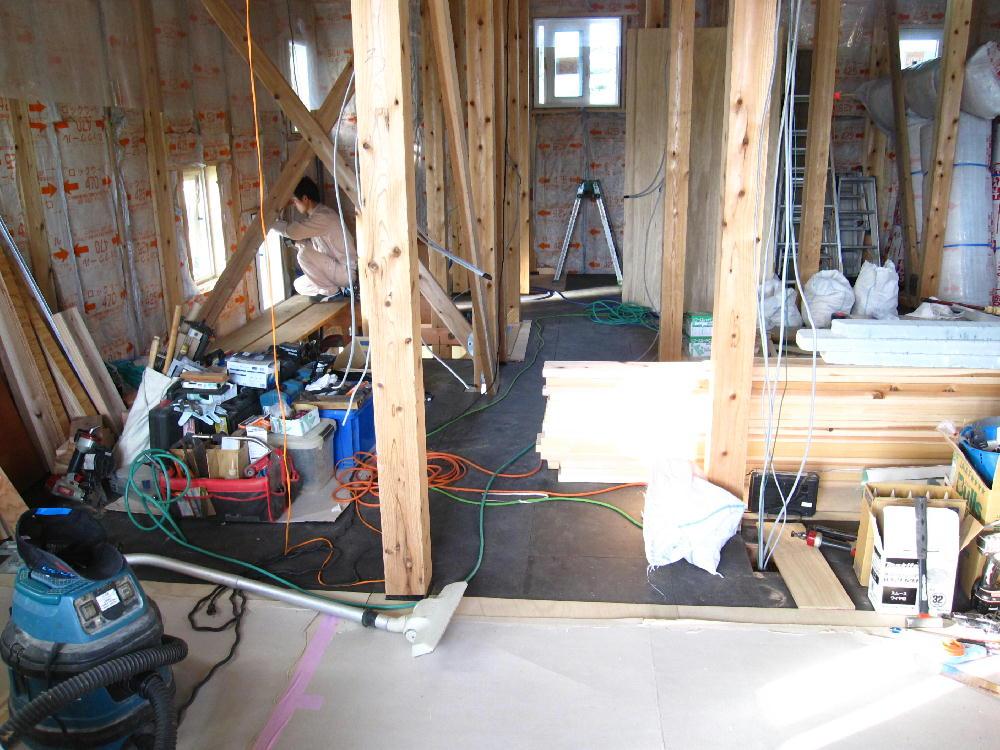 2階床の防音工事